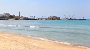 Замок моря Sidon, Ливан Стоковые Изображения