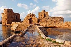 Замок моря Sidon Стоковые Изображения