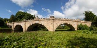 замок моста alnwick свой львев Стоковое Фото