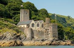 Замок на дротике реки, Девон Dartmouth стоковые изображения rf