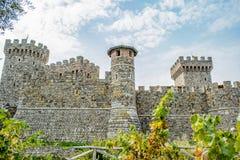Замок на Калифорнии Napa Valley Стоковая Фотография