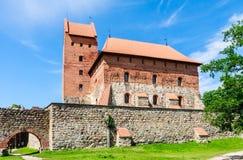 Замок на острове Trakai, Литва Стоковое фото RF