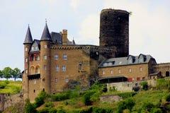 Замок на правлении Рейна стоковые фото
