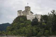 Замок на реке Dunajec Стоковое фото RF