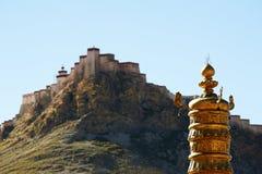 Замок на скале Стоковые Фото