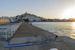 Замок на холме Ibiza, Испании Стоковые Фотографии RF