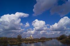 Замок неба стоковые фотографии rf