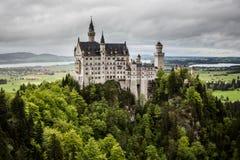 Замок Нойшванштайна, Бавария, Германия Стоковая Фотография RF