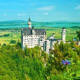 Замок Нойшванштайна в Германии Стоковое Изображение