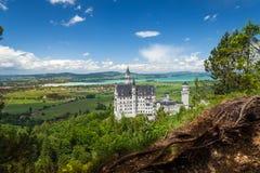 Замок Нойшванштайна дворец около Fussen в Баварии Стоковое Изображение