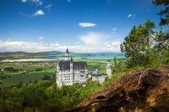 Замок Нойшванштайна дворец около Fussen в Баварии Стоковые Фото