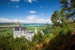 Замок Нойшванштайна дворец около Fussen в Баварии Стоковое Фото