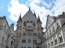 Замок Нойшванштайна, ¼ FÃ ssen в юго-западной Баварии, Германии стоковые изображения