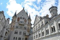 Замок Нойшванштайна, ¼ FÃ ssen в юго-западной Баварии, Германии стоковое фото rf