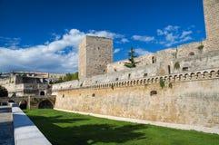 замок нормандский swabian bari apulia стоковое изображение
