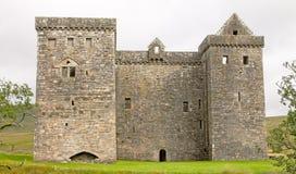 Замок обители, в шотландских границах Стоковые Фото