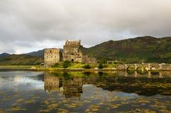 Замок 2-ое сентября 2015 Eilean Donan Стоковое фото RF