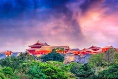 Замок Окинава Япония Shuri Стоковые Изображения