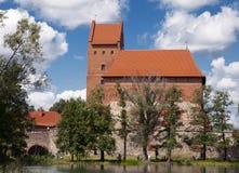 замок около trakai vilnius Стоковые Фото