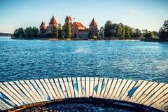 Замок около озера стоковое фото rf