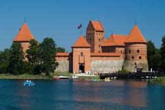 замок около trakai vilnius Стоковое Фото