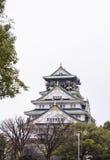 Замок Осака, всемирное наследие в Осака, Японии Стоковые Фото
