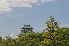 Замок Осака в солнечном дне Стоковое фото RF