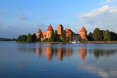 Замок острова в Trakai Стоковое Фото
