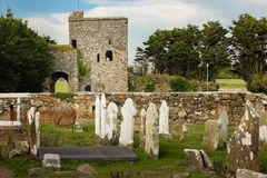 Замок острова ` s дамы графство Wexford Ирландия стоковое фото rf