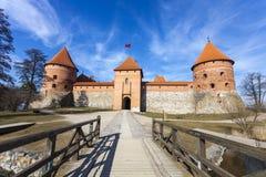 Замок острова Trakai, Литва Стоковое Фото