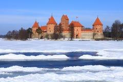 Замок острова Trakai. Стоковые Фото