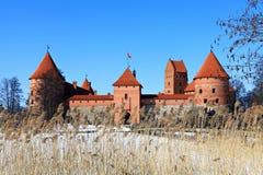 Замок острова Trakai. Стоковые Изображения RF