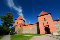 Замок острова Trakai Trakai Литва Стоковые Изображения