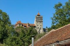 Замок отрубей - замок Дракула s Стоковое Изображение RF