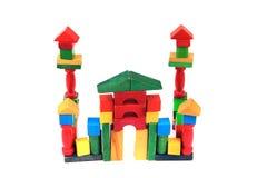 Замок от деревянных кирпичей цвета Стоковые Фото