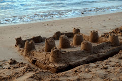 Замок песка в Испании Стоковое фото RF