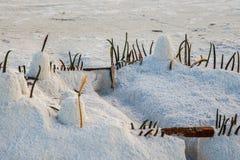 Замок песка - каникулы на серповидном пляже Стоковые Фотографии RF
