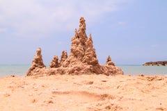 Замок песка на пляже Стоковое Фото