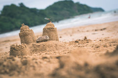 Замок песка стоковое изображение
