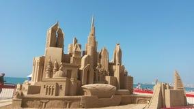замок пляжа сделал песок изваять форму стоковые фотографии rf