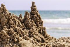 замок пляжа сделал песок изваять форму стоковые изображения rf