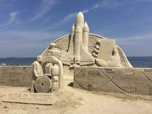 замок пляжа сделал песок изваять форму Стоковое Изображение