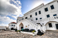 Замок побережья плащи-накидк - Гана Стоковое фото RF