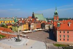 замок Польша квадратный warsaw стоковая фотография