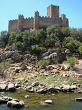 замок Португалия almourol Стоковое Фото