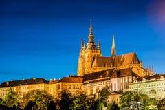 Замок Праги во время Стоковая Фотография