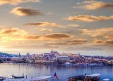 Замок Праги в ЮНЕСКО Праги, чехии Стоковое фото RF
