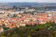 Замок Праги и городской пейзаж, Прага стоковые фото