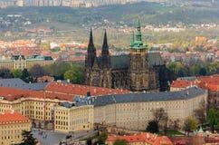 Замок Праги и городской пейзаж, Прага стоковая фотография rf