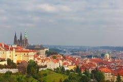 Замок Праги и маленький квартал, чехия Стоковые Фото